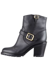 Marc By Marc Jacobs Womens Buckled Bloch-heel Motorcycle Boot Black