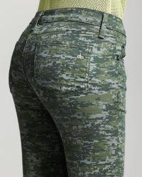 Rag & Bone Green Womens Skinny Camoprint Jeans