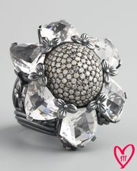 Stephen Dweck | Metallic Silver Citrine And Diamond Flower Ring | Lyst