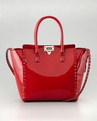 Valentino Rockstud Tote - Red