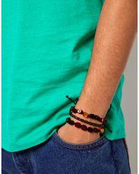ASOS - Multicolor Bracelet Pack with Coloured Cubes for Men - Lyst