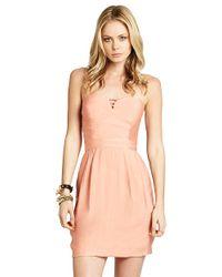 BCBGeneration - Pink Cut-out Bustier Dress - Lyst