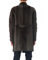 Burberry Prorsum - Green Shaved Shearling Coat - Lyst