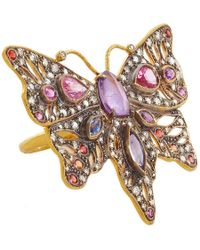 Cathy Waterman | Pink Diamond Sapphire Butterfly Ring | Lyst