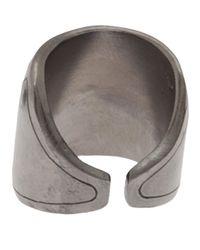 Delphine Charlotte Parmentier - Metallic Small Geometric Ring - Lyst