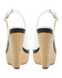 Dune White Huntington Wedged Sandals