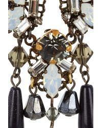 Erickson Beamon   Metallic Pretender Gunmetalplated Swarovski Crystal Earrings   Lyst