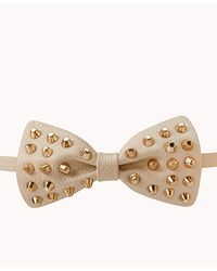 Forever 21 - Natural Studded Bow Waist Belt - Lyst