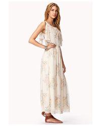 Forever 21 Natural Subtle Floral Maxi Dress