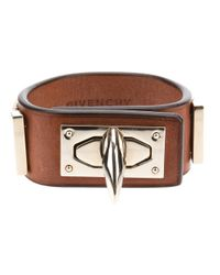 Givenchy | Brown Shark Turn Lock Bracelet | Lyst