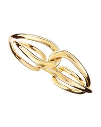 Michael Kors | Metallic Golden Twist Bangle | Lyst
