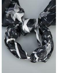 Philipp Plein - Black Printed Silk Bracelet - Lyst