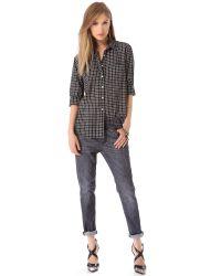 R13 Slouchy Skinny Jeans Hatch Black