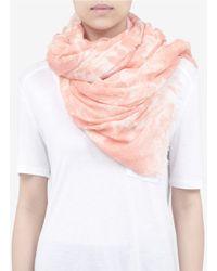 Stella McCartney - Pink Floral Printed Scarf - Lyst