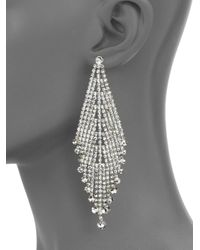 ABS By Allen Schwartz - Metallic Draped Rhinestone Earrings - Lyst