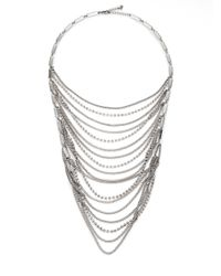 ABS By Allen Schwartz - Metallic Draped Swag Bib Necklace - Lyst
