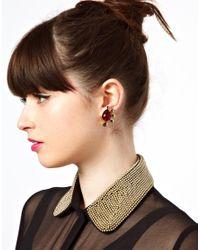 ASOS Black Cluster Clip On Earrings