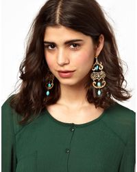 ASOS - Blue Ottoman Hands Exclusive To Ornate Chandelier Earrings - Lyst