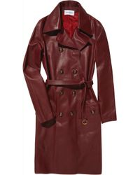 Emilio Pucci | Textured-leather Trench Coat | Lyst