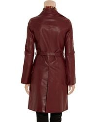Emilio Pucci - Textured-leather Trench Coat - Lyst