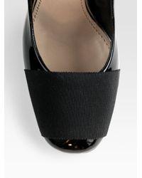 Giambattista Valli | Black Patent Leather Ribbon-toe Pumps | Lyst
