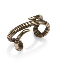 Giles & Brother - Metallic Serpent Cuff Bracelet - Lyst