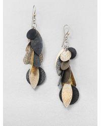 Gurhan | Metallic Willow 24k Yellow Gold & Sterling Silver Cluster Drop Earrings | Lyst