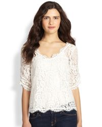 Joie | White Nevina Lace Top | Lyst