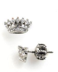 Juicy Couture Metallic Crown Stud Earrings