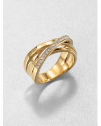 Michael Kors | Metallic Pavé Twisted Ring | Lyst