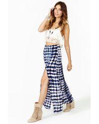 Nasty Gal Blue Delirium Maxi Skirt