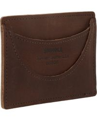 Shinola | Brown Credit Card Case for Men | Lyst