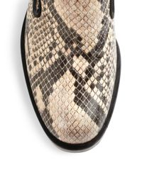Stella McCartney - Black Corinne Snakeprint Faux Leather Loafers - Lyst