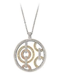 Swarovski - Metallic Several Circle Crystal Pendant Necklace - Lyst