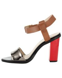Whistles Red Chi Chi Block Heeled Sandals