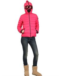 Ai Riders On The Storm Purple Total Zip Up Nylon Down Jacket