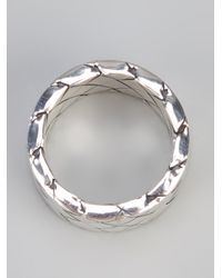 Bottega Veneta | Metallic Intrecciato Ring | Lyst