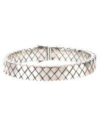 Bottega Veneta | Metallic Intrecciato Bracelet | Lyst