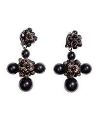 H&M Black Large Clip Earrings