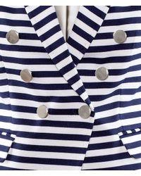 H&M White Striped acket