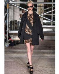 Boutique Moschino Multicolor Leopard Printed Crepe Dress