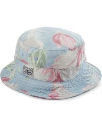 Ralph Lauren Blue Floral Bucket Hat