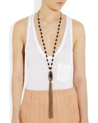 Rosantica - Black Cabaret Golddipped Onyx and Agate Necklace - Lyst
