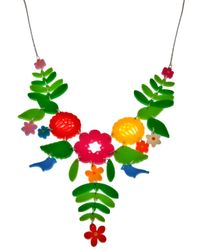Tatty Devine | Multicolor Mexican Embroidery Necklace | Lyst