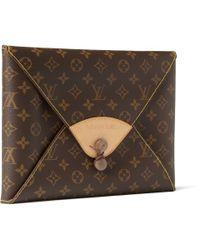 Illesteva Brown Fashion Special Limited Edition Portfolio in Leather Louis Vuitton Case for men