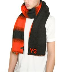 Y-3 Orange Reversible Wool Blend Tricot for men
