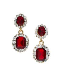 ASOS Collection | Red Limited Edition Vintage Look Jewel Earring | Lyst