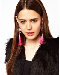 ASOS Collection Pink Limited Edition Filigree Tassel Earrings