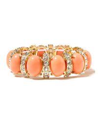 Banana Republic - Orange Cabochon Crystal Stretch Bracelet - Lyst