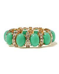 Banana Republic - Green Cabochon Crystal Stretch Bracelet - Lyst
